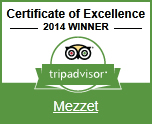 Cerificate of Excellence 2014 Winner Mezzet
